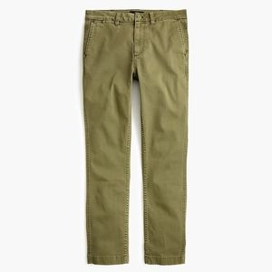 New JCREW Olive high-rise slim boy chino pant